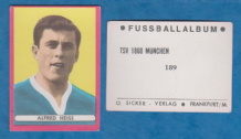 TSV 1860 Munchen Alfred Heiss West Germany 189